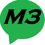 M3's logo stands for engagement.