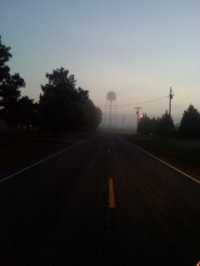 Water Tower at Dawn
