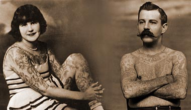Ringling Brothers Tattooed Couple