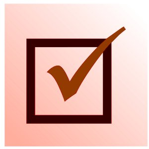 red checkbox