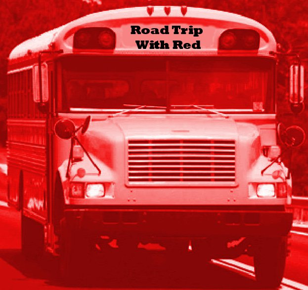 Red Road Trip Bus