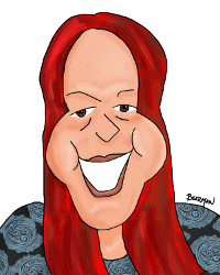 Gail Thornton Caricature