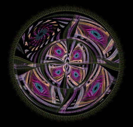 Quilting Badge Fractal Art