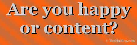 happy or content