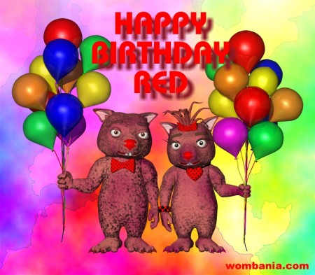 Birthday Card Red 2014