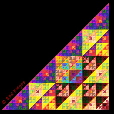Sierpinski triangle Red Dwyer
