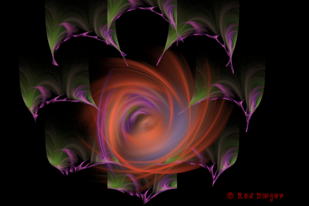 Red Dwyer fractal art